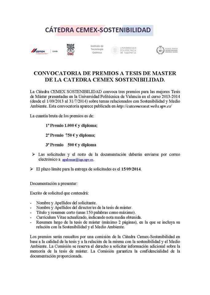 Convocatoria CEMEX 2