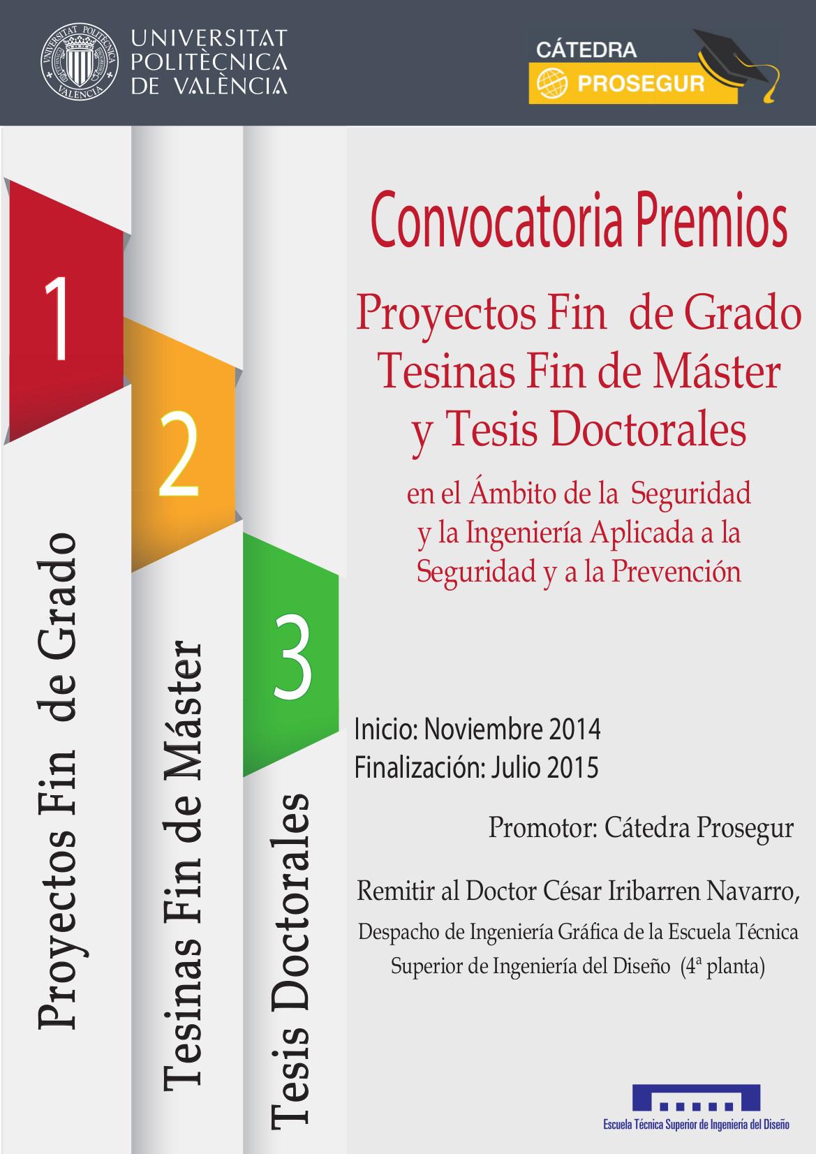 Cartel Convocatoria Premios 2014-15