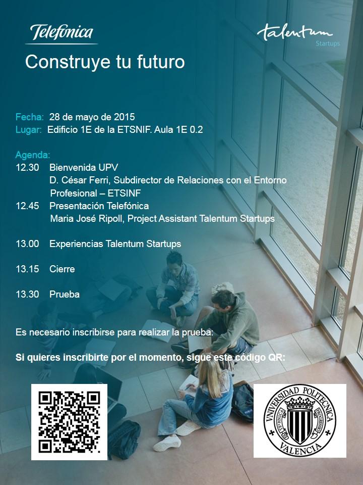 agenda talentum startups Valencia ETSINF UPV