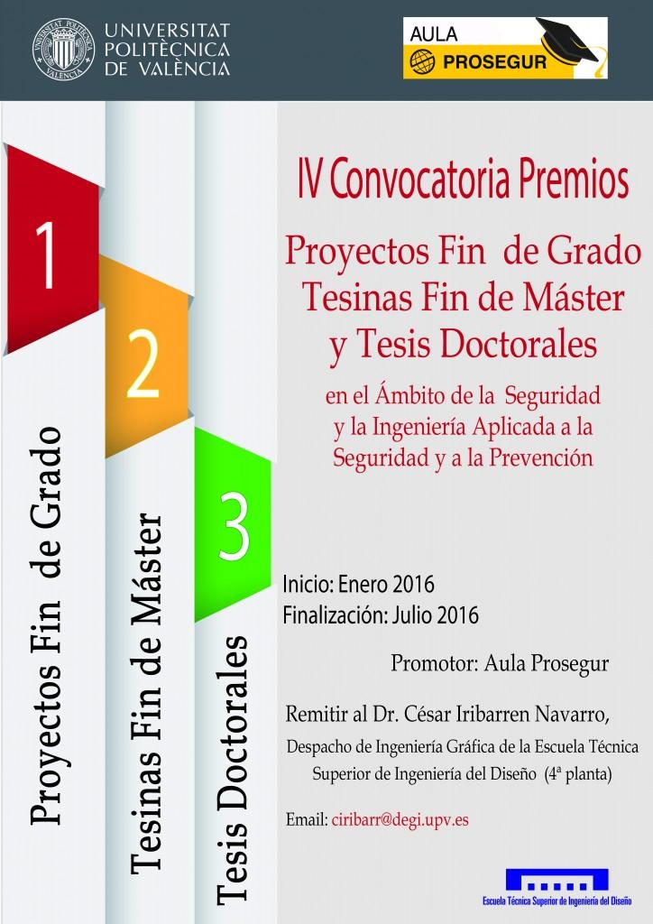 Cartel IV Convocatoria Premios