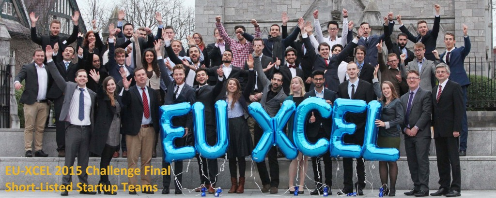 DC 03/11/2015 - REPRO FREEFREE PICAspiring tech entrepreneurs from across the European Union battled to win the EUXCEL virtual accelerator programme at UCC. From a shortlist of 12 international startup teams, the winners were announced at University College Cork (UCC) Ireland and include WeQ4U, Datamine, Craw.ly. Pic: Diane Cusack